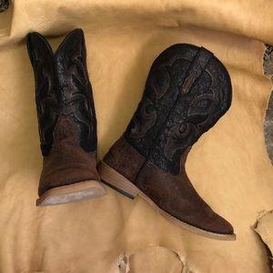 Roper kids square toe cowboy boots